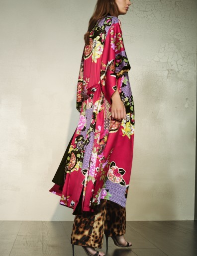 Love this festive printed Mikado robe, get it now at natori.com