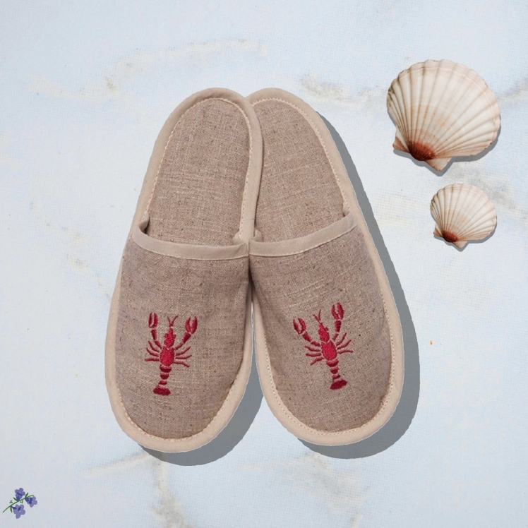 Jacaranda Living lobster slippers