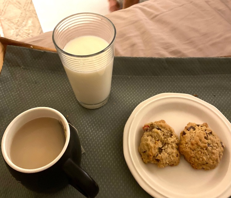 cookies and milk or tea
